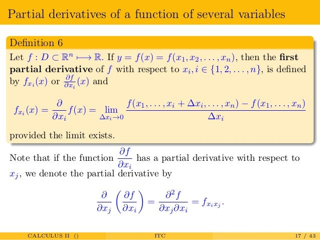 Differential in several variables