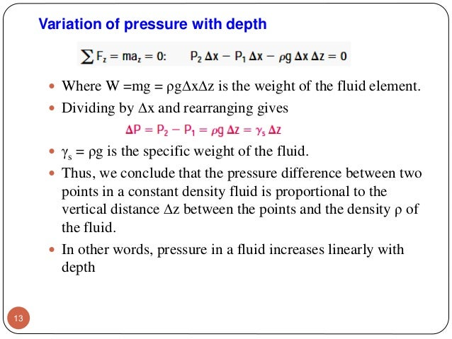 Fluid Mechanics Chapter 2  Fluid Statics
