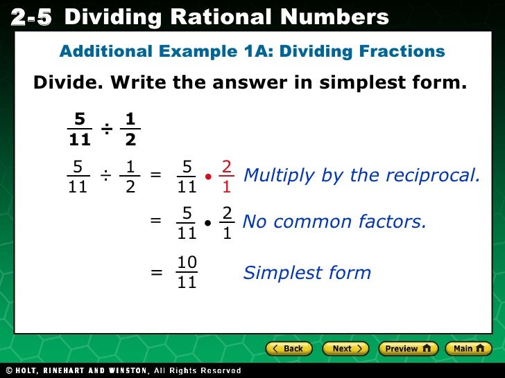 simplest form dividing fractions  Chapter14.14