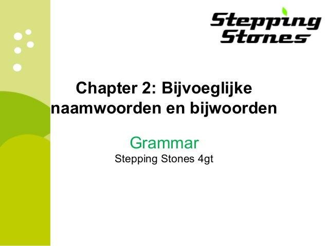 Chapter 2 Bijvoeglijke Naamwoorden En Bijwoorden