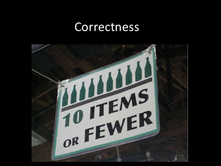 Correctness<br />