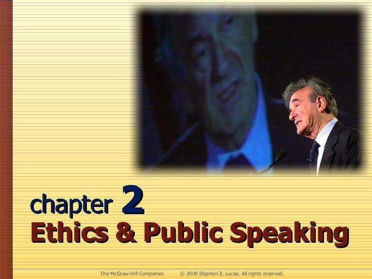 chapter  2 Ethics & Public Speaking