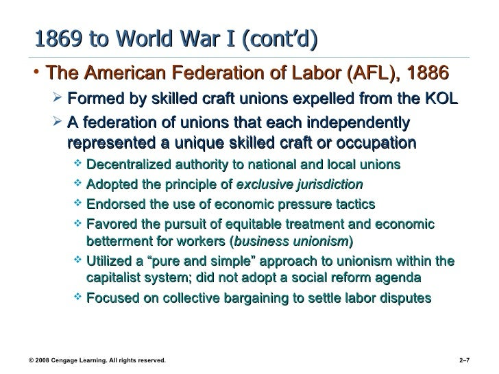 the evolution of labor unions The labor movement in the united states grew out of the need to protect the common interest of workers for those in the industrial sector, organized labor unions.