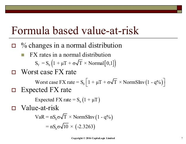Chapter 2 fx rate risk for currrency portfolios