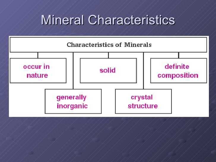 Earth Science: Chapter 2, lesson 2:minerals