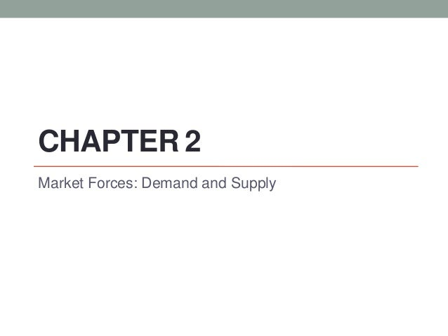 CHAPTER 2 Market Forces: Demand and Supply