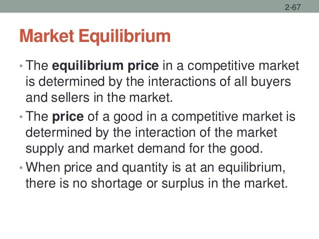 Market Equilibrium • The equilibrium price in a competitive market is determined by the interactions of all buyers and sel...