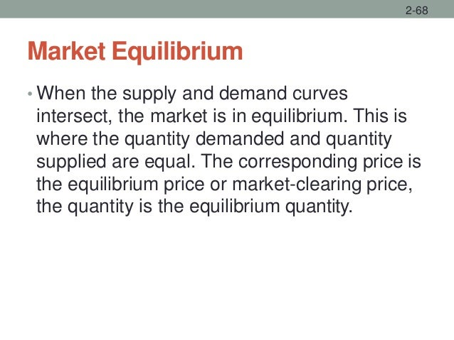 Market Equilibrium • When the supply and demand curves intersect, the market is in equilibrium. This is where the quantity...