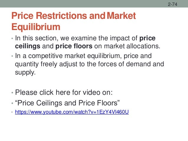 Price Restrictions andMarket Equilibrium • In this section, we examine the impact of price ceilings and price floors on ma...