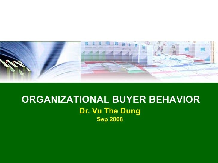Consumer & Organizational Buyer Behavior Research Paper Starter
