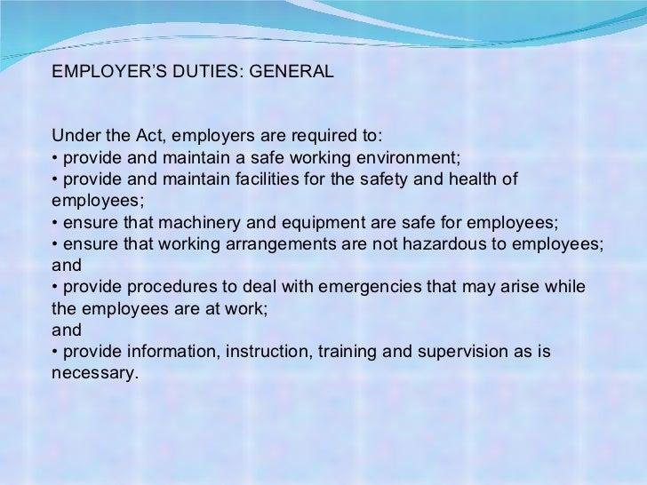 osha employee responsibilities