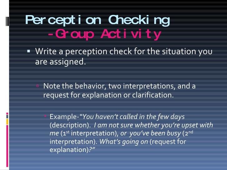 perception check assignment