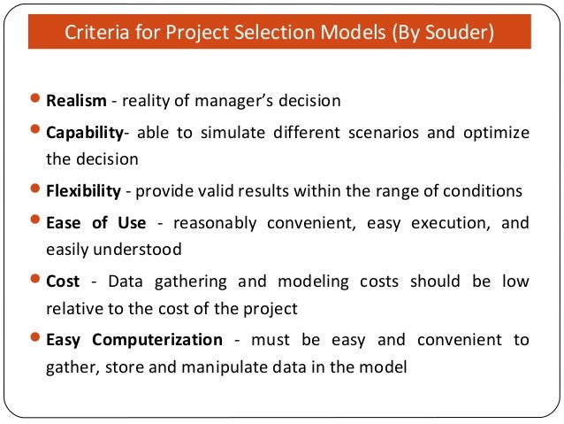 outline of project selection criteria [identify the criteria which will allow to declare, at the end of the pilot, that the pilot project was a success] variables to be measured self-assessment performed at the beginning of pilot.
