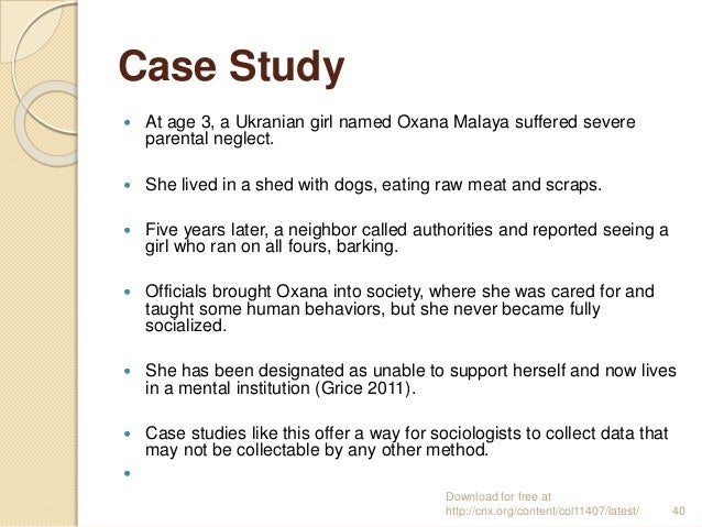 Case Study Sociology