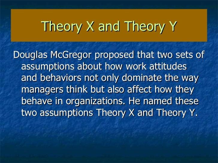theory x assumptions