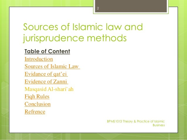 the four main sources of islamic law religion essay Sharia law or islamic law is a set of religious principles which derived from the following main sources be four adult male muslim witnesses.