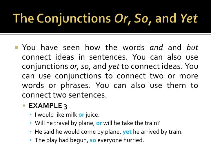 how to use yet in a compound sentence