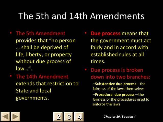 Due Process Th And 14th Amendments