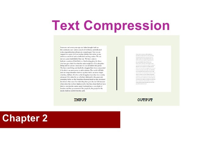 Text Compression  Chapter 2