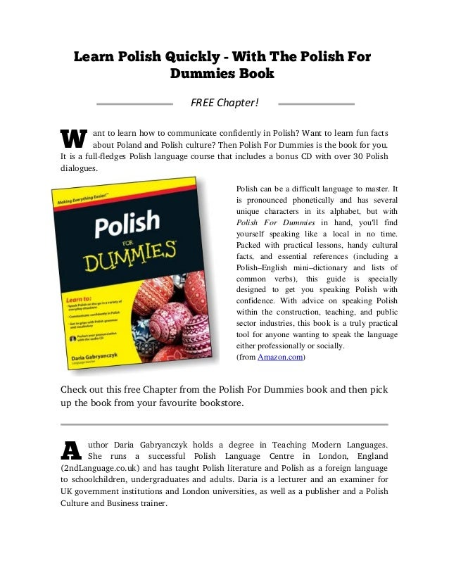 Learn Polish Ebook