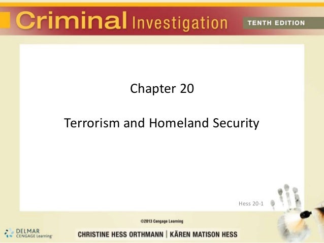 Chapter 20 - Terrorism and Homeland Security