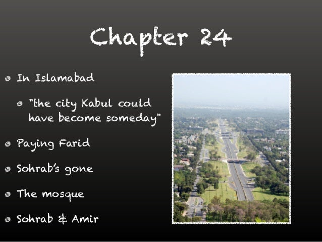 kite runner chapter 22 Kite runner- chapter 22 essay chapter twenty-two represents a kind of purgatory for the main protagonist, amir, within the novel it can be argued that this chapter represents the cyclic nature of the novel, in the repetition of events.
