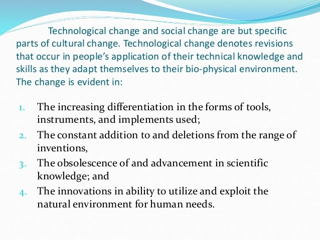 introduction to change in technology essay