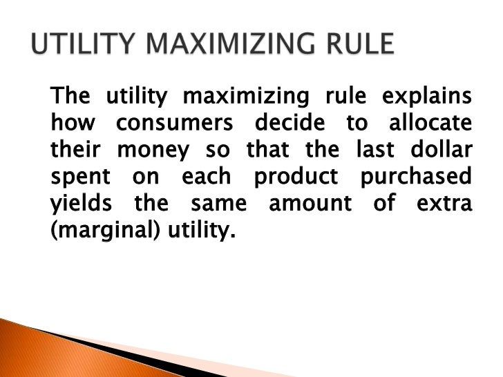 consumer behavior and utility maximization A model of consumer behaviour is postulated whereby expected lifetime is an  argument of the consumer's utility function and the consumption pattern chosen  by.
