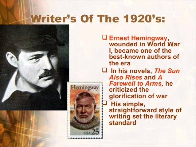 the theme of the great war in ernest hemingways the sun also rises All things truly wicked start from innocence, ernest hemingway brings much essence into his novels by manifesting many themes throughout his literary works hemingway's novels, the garden of eden, the sun also rises, and the old man and the sea bring great emphasis to themes that signify.