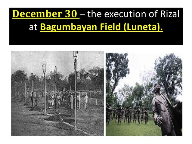 execution of rizal in dapitan Jose p rizal, known as the national hero of the philippines shown his life history covered from his childhood to his execution at the hands of the spanish military on 19 century on the movie who performed by caesar montano, a filipino actor.
