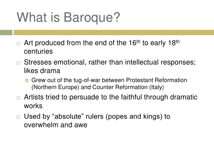 Chapter 22 baroque art for What is the baroque period