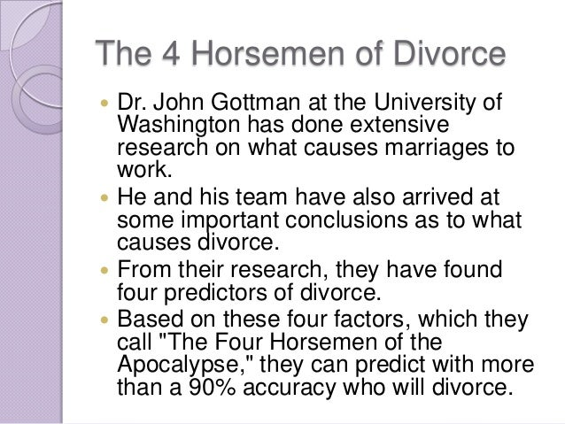 The four horsemen of divorce