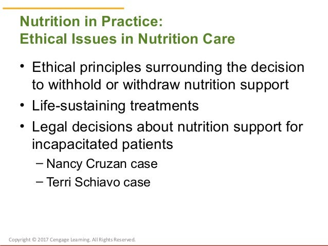 ethical principles case study nancy cruzan In nursing, it fulfills the ethics requirement for  care professionals, and  describe a case study in bioethics 3  case study: nancy cruzan.