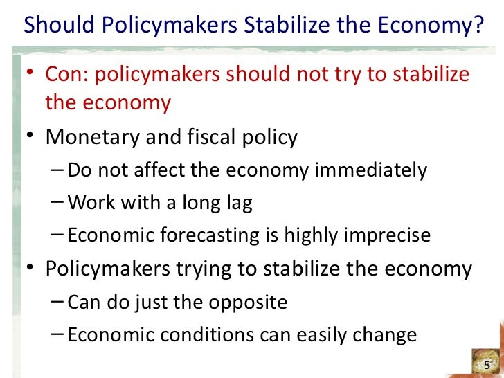 policymakers should not try to stabilize Which is not a goal of policymakers pursuing to stabilize the economy stable productivity is not a goal of policymakers pursuing tostabilize the economy the economy, broadly defined, is the.