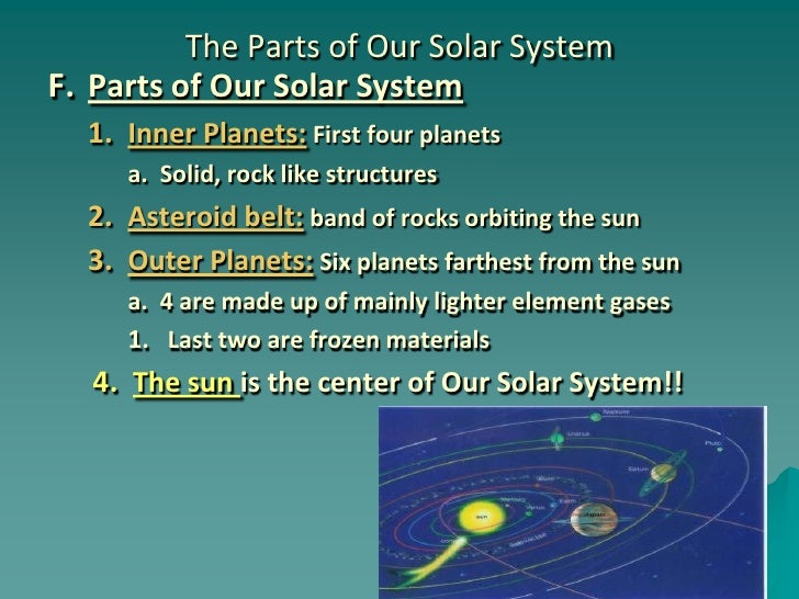 Chapter 24: Section 1 (Our Solar System)