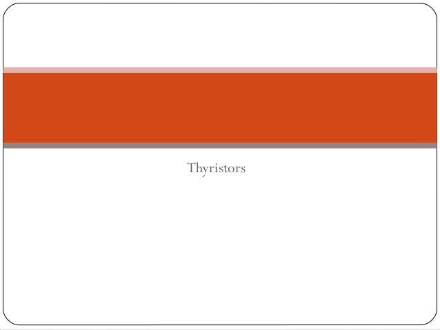Thyristors