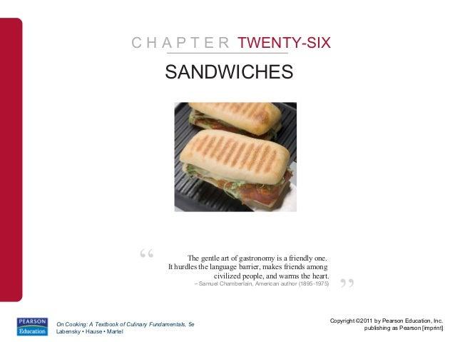 "C H A P T E R TWENTY-SIX                                        SANDWICHES                              ""                 ..."