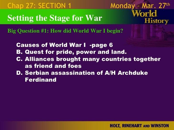 World War 1 - Chapter 27 Slides Slide 3