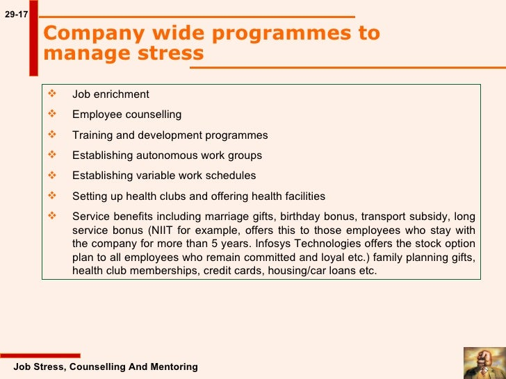 stress management in infosys We asked kronos incorporated to explain what they do here is what they had to say  exercise, chronic disease management, and stress management.