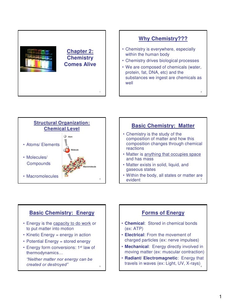 Why Chemistry???                                              • Chemistry is everywhere, especially                       ...