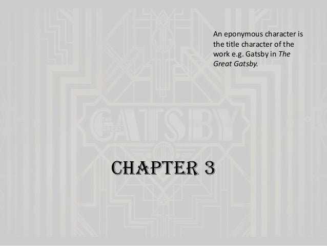 the great gatsby chapter 3 Nick describes the elaborate parties (orchestra and everything) that jay gatsby throws most nights throughout the summer hordes of people arrive to get their collective grooves on many of them never meet gatsby, and most were not invited.