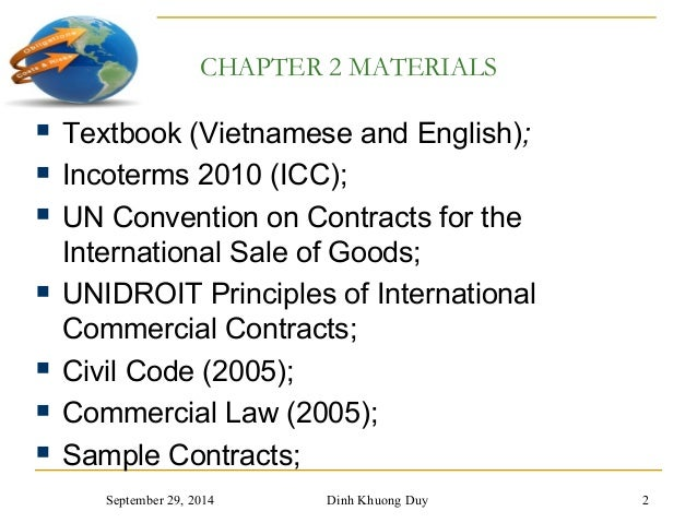 Chapter 2 and 3   contracts and incoterms Slide 2