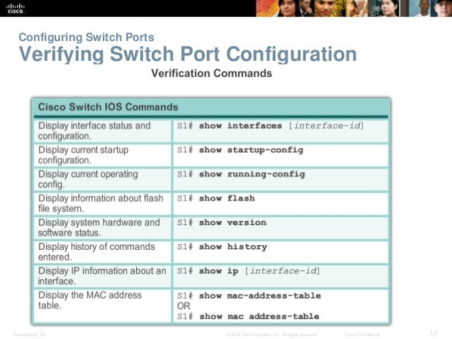 CCNAv5 - S2: Chapter2 Basic Switching Concepts and Configuration