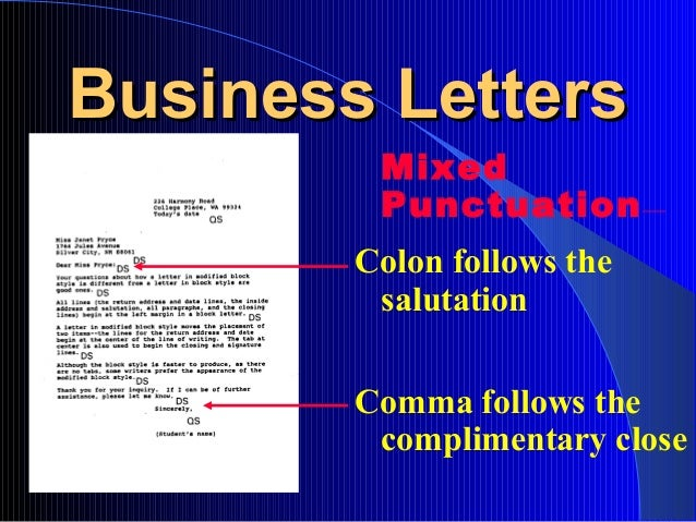 Chapter 2 Business Letters