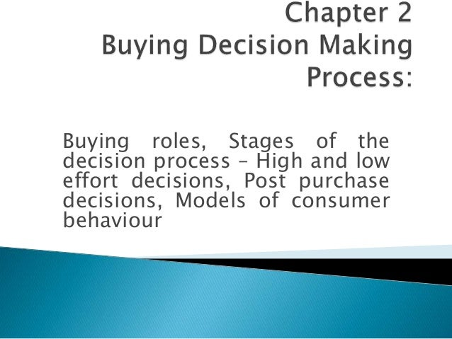 a purchasing decision essay Consumer decision making process consumer choice or influential factors in purchasing products essay - people purchase products and services for a variety of.