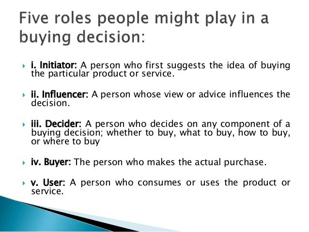 reasons for making in the make or buy decision Consumer behavior: how people make buying decisions consumer behavior considers the many reasons why—personal 31 the onsumer's decision-making process.