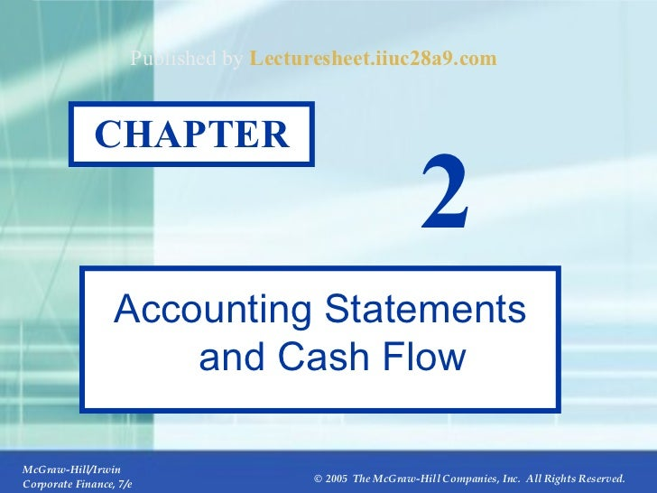 2- CHAPTER 2 Accounting Statements and Cash Flow Published by  Lecturesheet.iiuc28a9.com