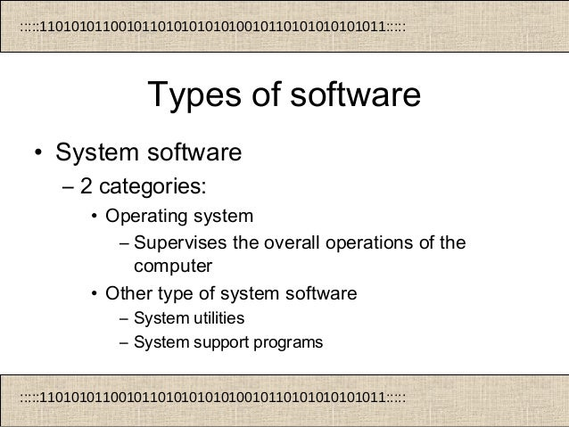 types of computer and application software part 2 managment