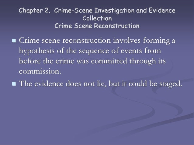 collection methods for a criminal investigation The following guidelines on national security investigations and foreign intelligence collection by the federal bureau of investigation and criminal matters.