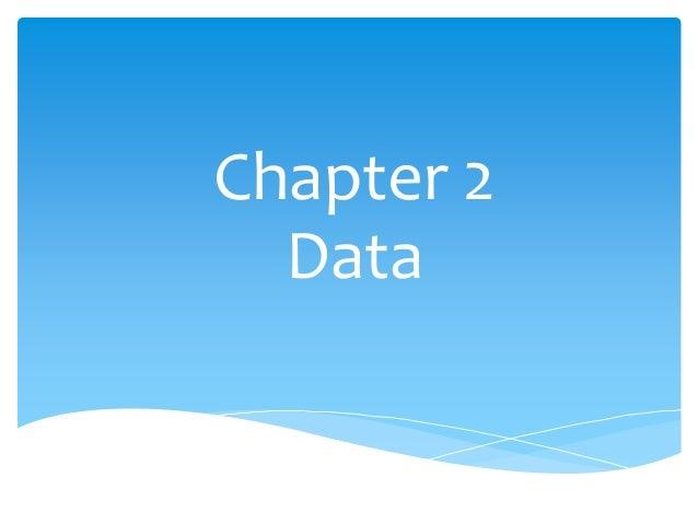 Chapter 2  Data